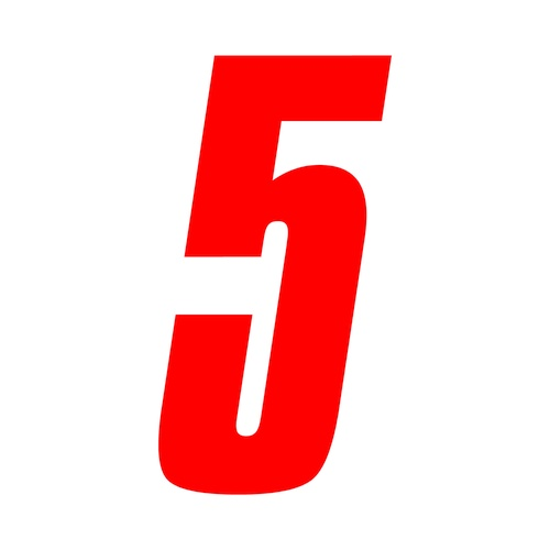 6 inch tall red race number 5 racing numbers decals ebay