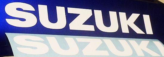"""Suzuki REFLECTIVE White 13/"""" 33cm decal 600 sticker gsxr 1000 srad 750 moto gp sv"""