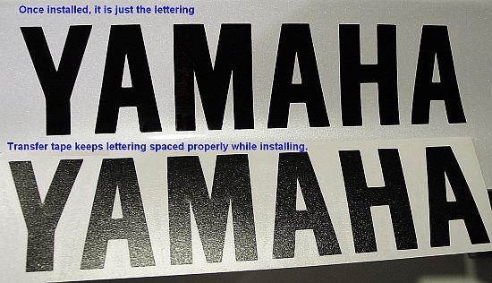 Yamaha WHITE 23in 58cm decal sticker decals yfz yz big keyboard trailer size xj